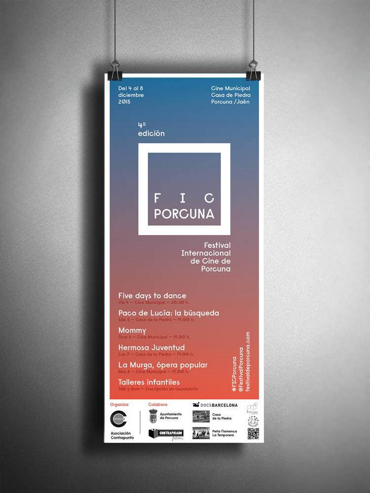 Póster Festival de Cine de Porcuna 2015